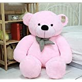 CLICK4DEAL Soft Teddy Bear 4 Feet Long Pink (122 Cm)