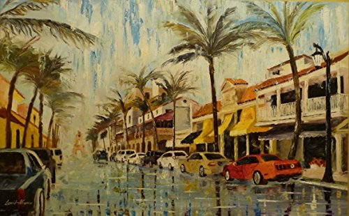 PALM BEACH (FLORIDA) is an Original Oil Painting on Canvas by Leonid Afremov