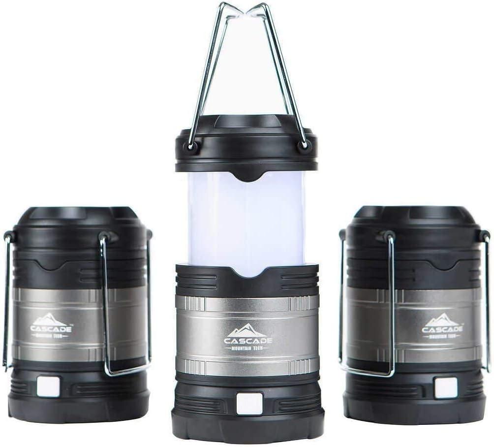 3pk 500 Lumen M64c for sale online Cascade Mountain Tech Bright Collapsible Mini LED Lantern