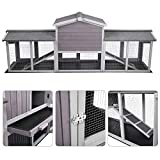 87.8''L Extra Large Chicken Coop, Rabbit Hutch