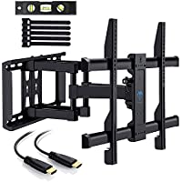 TV Wall Mount Bracket for 37-70 TVs - Full Motion with Articulating Arm & Swivel - Holds up to 132 lbs and Extends 16 - Fits Plasma Flat Screen TV Monitor by PERLESMITH