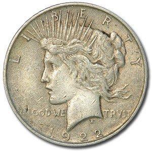 1922 Peace Dollar $1 Very Fine ()