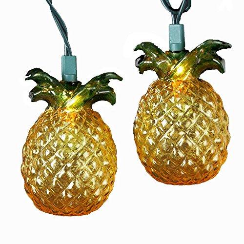 Kurt Adler 10-Light Glass-Look Pineapple Light Set