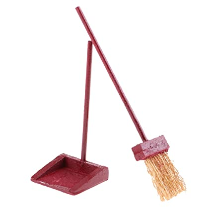 Amazon com: Baoblaze 1/12 Dolls House Miniature Broom