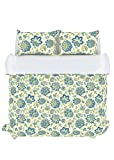 Stylemaster Home Products Colorfly Bella 210 Thread Count Duvet Cover Set, King, Cerulean