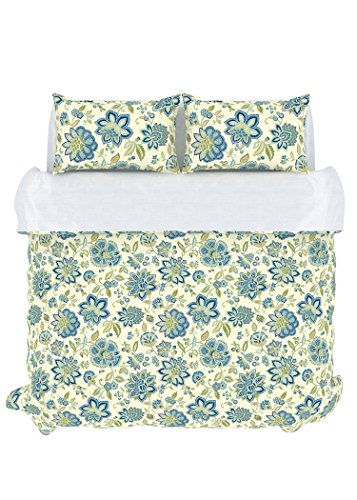 Stylemaster Home Products Colorfly Bella 210 Thread Count Duvet Cover Set, King, Cerulean by Style Master