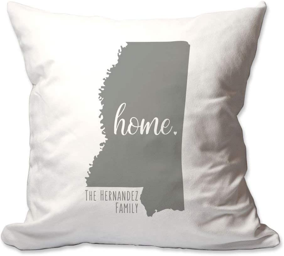 Pattern Pop Personalized State of Mississippi Home Throw Pillow Cover - 17X17 Throw Pillow Cover (NO Insert) - Decorative Throw Pillow Cover - Soft Polyester