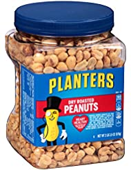 Planters Peanuts, Dry Roasted & Salted, 34.5 Ounce Jar