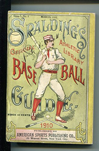 SPALDING'S OFFICIAL BASEBALL GUIDE-1910-HISTORICAL-STATS-4 1/4 X 6 3/8- fn ()