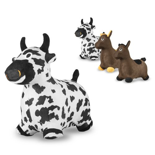 Chromo Bouncy Inflatable Real Feel Hopping Cow