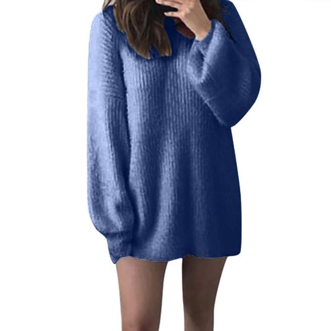 Jersey de Punto de Invierno Suéter de Cuello Alto Jerséis Casual para Mujer Mujer Size S