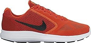 NIKE Men's Revolution 3 Running-Shoes, Max Orange/Black/Dark Cayenne, 10.5 D(M) US