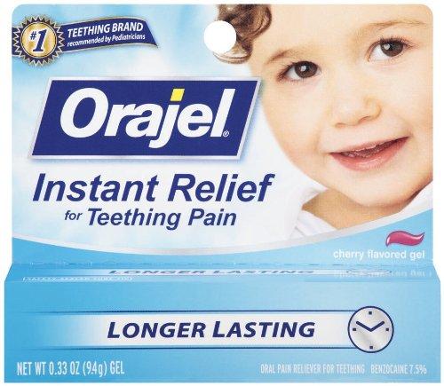 Orajel Teething Gel soulagement instantané, 0,33 once