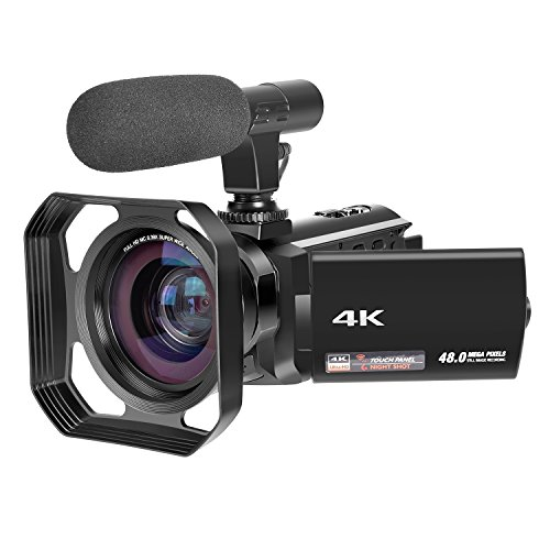 4K Camcorder Ultra-HD 48.0MP Digital Video Camera IR Night V