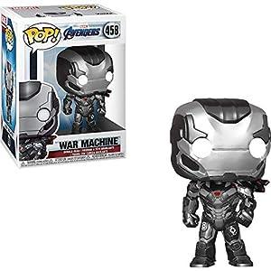 War Machine: Avengers – Endgame x Funko POP! Marvel Vinyl Figure & 1 POP! Compatible PET Plastic Graphical Protector Bundle [#458 / 36673 – B]