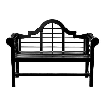Achla Designs Ofb 11 Lutyens Indoor Outdoor Garden Bench Black 4 Ft