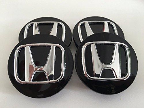 Honda Wheel Badge Center Caps Set of 4 69mm or 2.75 Black Accord Civic Pilot by RPOEnterprise (Image #2)
