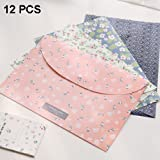XYTMY 12 Pcs Cute A4 Button File Bag Weatherproof Bag Use for Business Document Organizer and Office Stationery Storage
