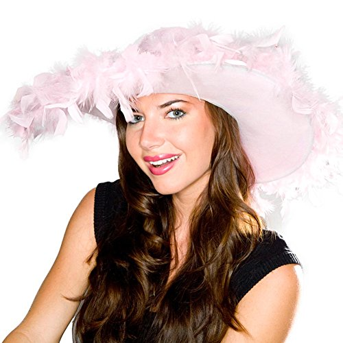 Rhode Island Novelty Pink Fluffy Feather Hat
