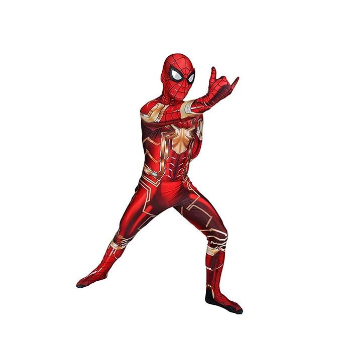 TOYSGAMES Mecánico Spiderman Cosplay Disfraz de Traje elástico ...