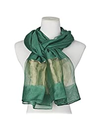 Beautiful Silk Blending Scarf Wedding Wraps Shawl Green Women