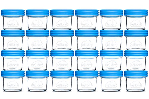 Nellam Baby Food Storage Containers - Leakproof, Airtight, Glass Jars for...