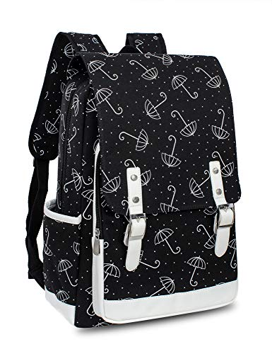 - Leaper Cute Umbrella Laptop Backpack Travel Bag School Bag Satchel Black L