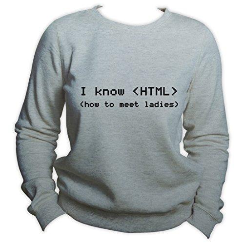 Programmer Sweatshirt I know HTML Software Engineer Developer Sweater Java Crewneck