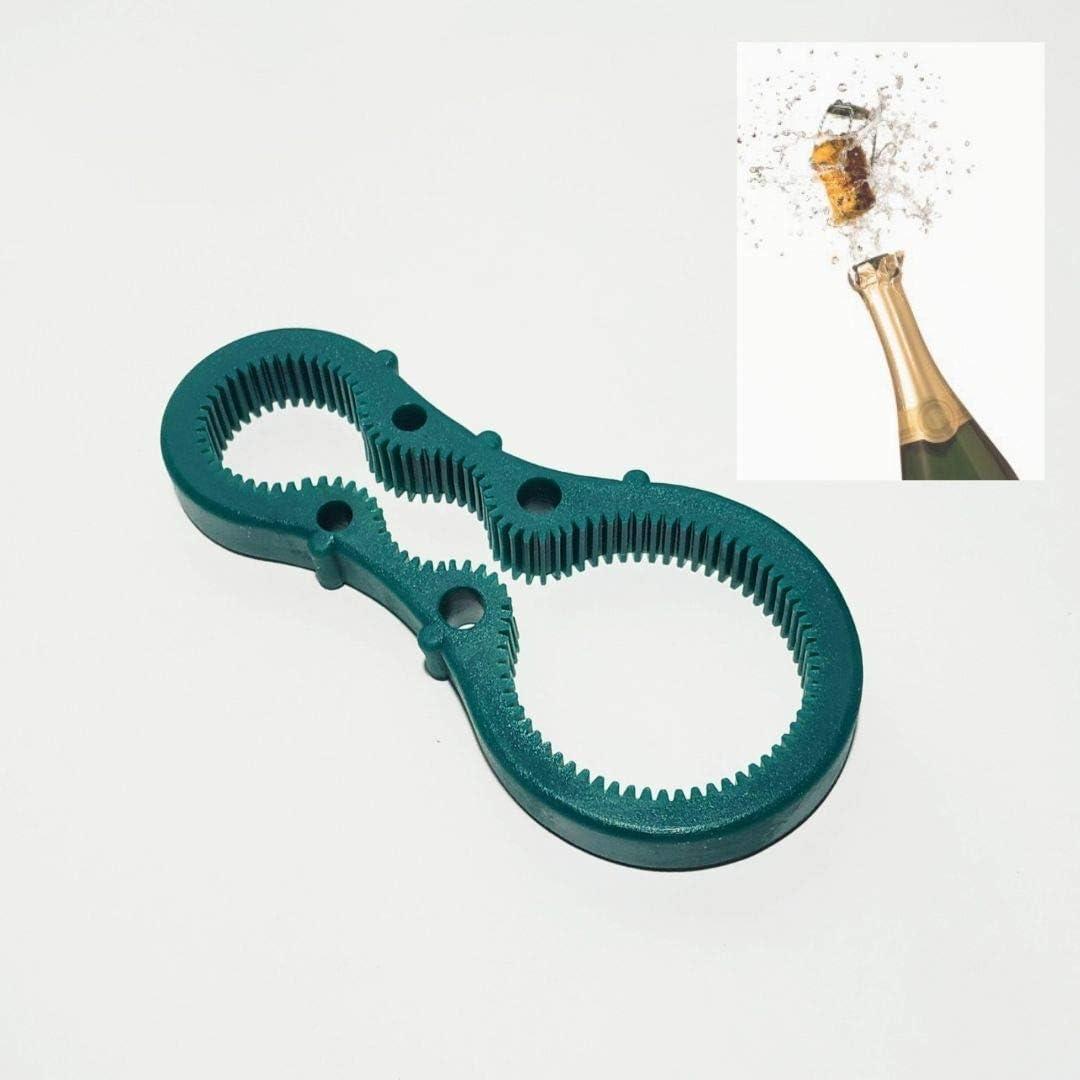 N//A Abridor De Silicona Antideslizante Aflojador De Botellas BIGDOM Utensilio Estriado para una Apertura m/ás Comoda Y Sencilla