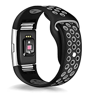 TreasureMax for Fitbit Charge 2 Bands, Latest Replacement Accessory Sport Bands Strap for Charge 2 HR Fitness Wristband/Fitbit Charge 2