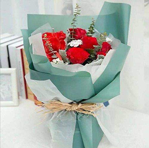 VNDEFUL 20PCS High - grade Flowers Pack Waterproof Glass Paper