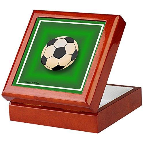 CafePress - Soccer - Keepsake Box - Keepsake Box, Finished Hardwood Jewelry Box, Velvet Lined Memento Box