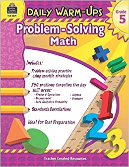 Amazon.com: Daily Warm-Ups: Problem Solving Math Grade 5 ...