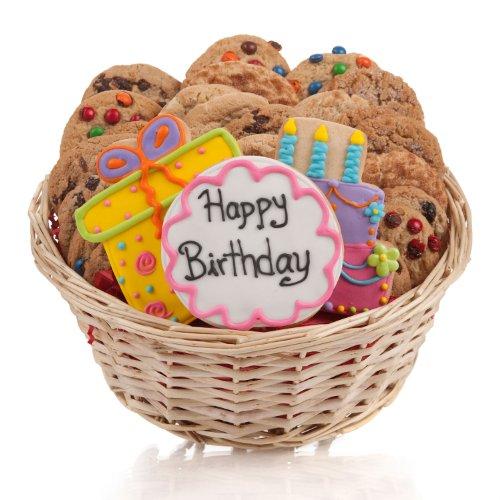(Happy Birthday Cookie Gift Basket - 24 PC.)
