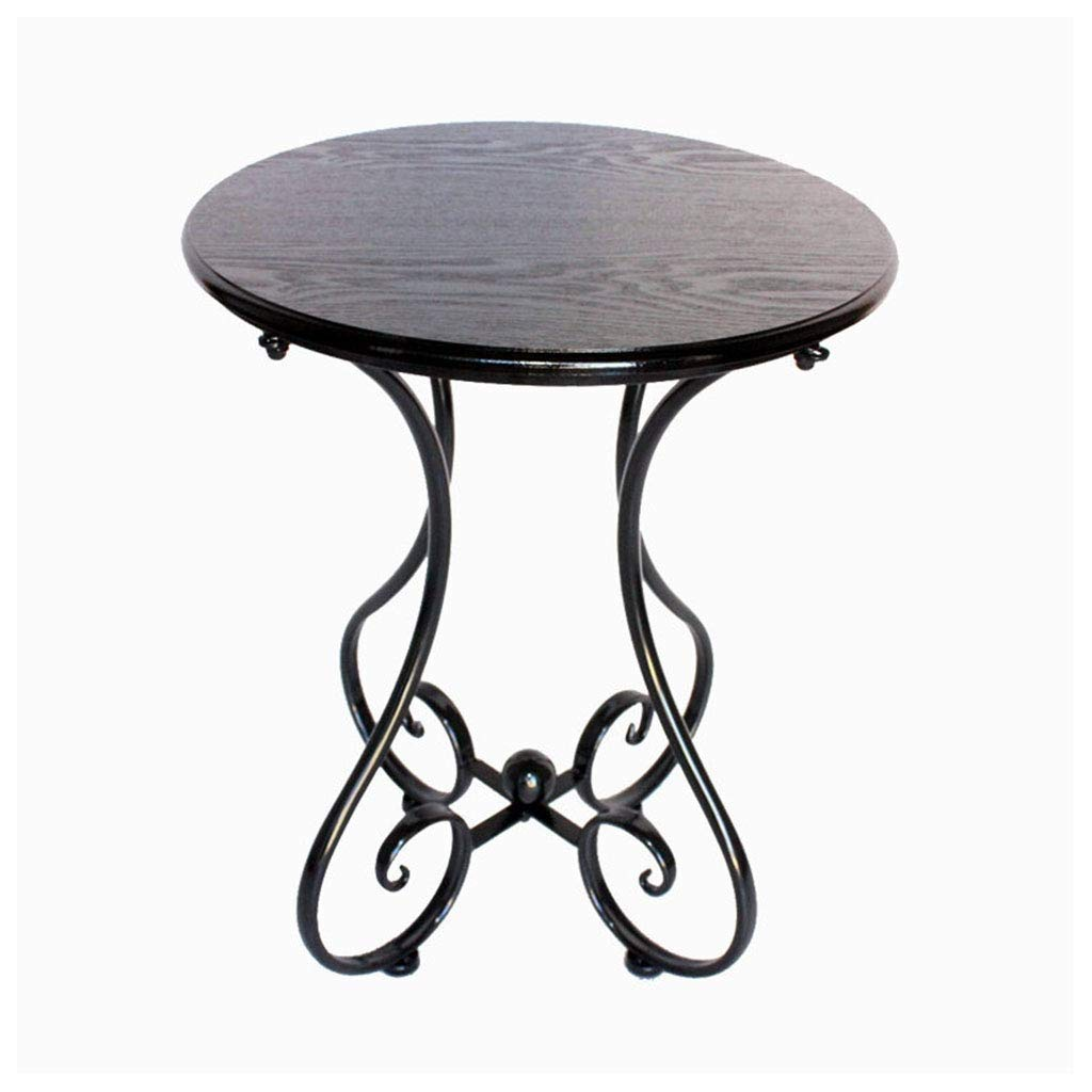 4760cm TYUIO Round Tulip Dining Table Pedestal Table, Small Kitchen Table Modern Wooden Coffee Table with Strong Metal Base (Size   47  60cm)