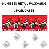 PC Hardware : Lot of 5 SanDisk 16GB SD SDHC Class 4 Flash Memory Camera Card SDSDB-016G-B35 Pack + ( 5 Jewel Cases ) …