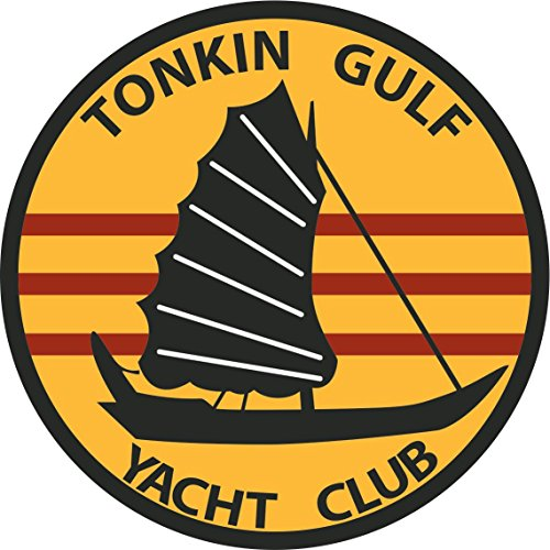 MilitaryBest Tonkin Gulf Yacht Club Patch 3.8 Inch (Club Decal)