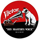 RCA Nipper Victor Record Phonograph Tin Sign 14 x 14in