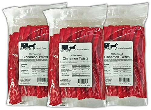 Amish Licorice Twists - Three 16 Oz Pkgs. - Cinnamon