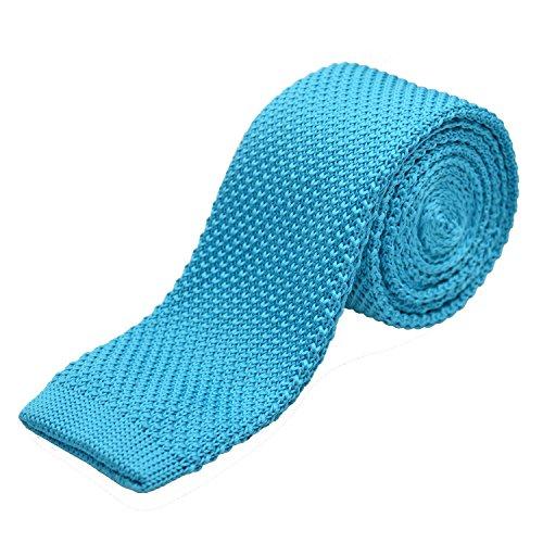 Alizeebridal Vintage Men's Casual Skinny Knit Tie Necktie,Lake Blue