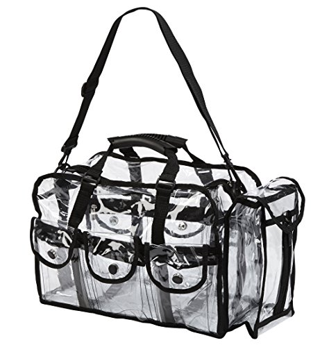 Seya Makeup Artist Clear PVC Set Bag w/ Removable Shoulder Strap (Makeup Artist Bags)