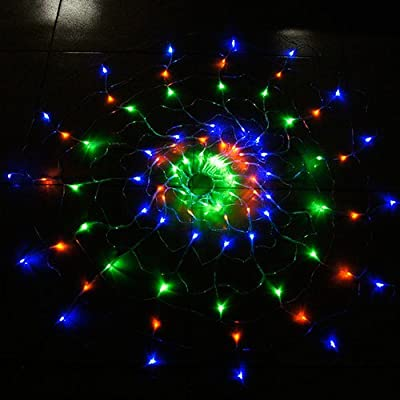 CM-Light 1.2M 120LED Circle Net Christmas Spider Web Lights with 8 Function Controller