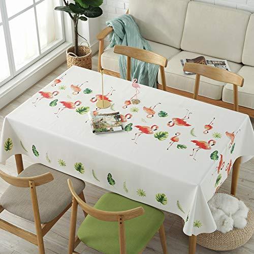 Zhimu Table Rectangulaire Maison Tissu PVC Imperméable à l'eau Anti-Repassage sans Huile Coton Chanvre Petite Nappe De Table Basse Fraîche 138x220cm, O