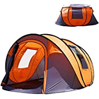Oileus XL Pop Up Tents Camping 4-6 Person Tent...