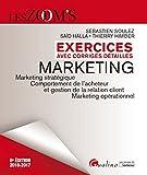 Exercices avec corrigés détaillés - Marketing 2016-2017