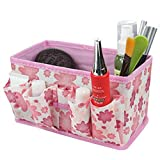Bestga 2 PCS Makeup Cosmetic Box Bag Non-woven Fabrics Bright Organiser Multifunction Foldable Square Makeup Stationary Storage Container Case - Pink