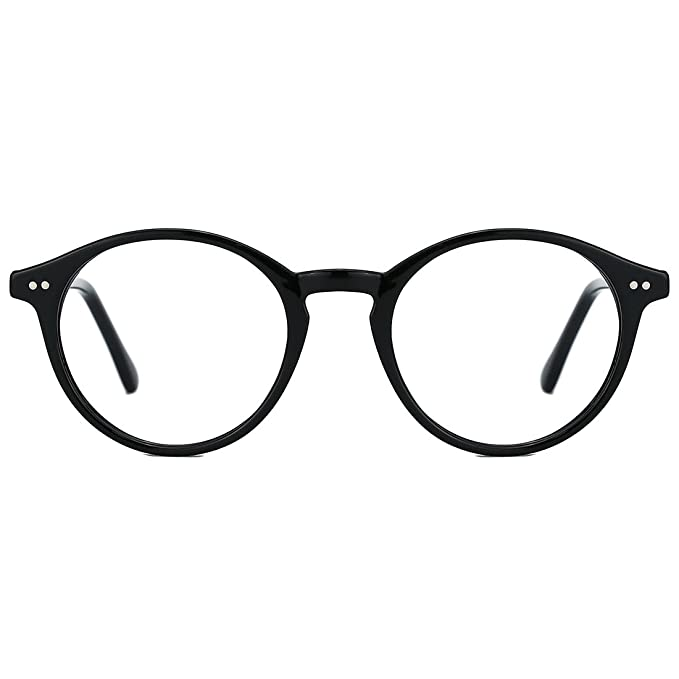b38bfd112e TIJN Vintage Women Thick Round Rim Non-prescription Glasses Eyeglasses  Clear Lens  Amazon.ca  Clothing   Accessories