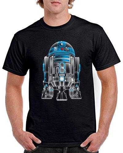 camiseta Droid Star monekers 2022 Neon Wars Premium Negro dr OwqgSUPW