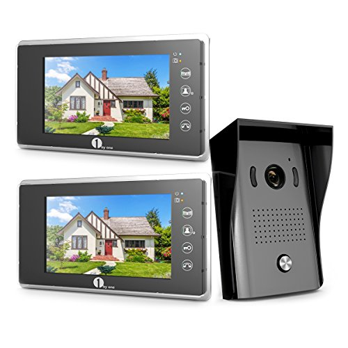 1byone 103NA-0001 Door Phone Intercom System Video Doorbell Kit 13.3 x 11.7 x 4.1 inches (Phone Visual Door)