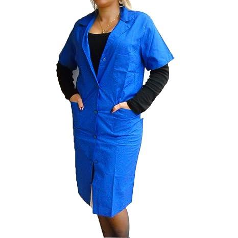 Fratelliditalia Bata Mujer Tallas Fuertes Trabajo Maestra algodón Azul Burdeos Verde Azul: Amazon.es: Deportes y aire libre